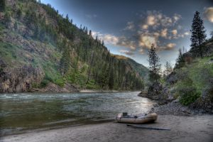 Salmon River Morning HDR Composite