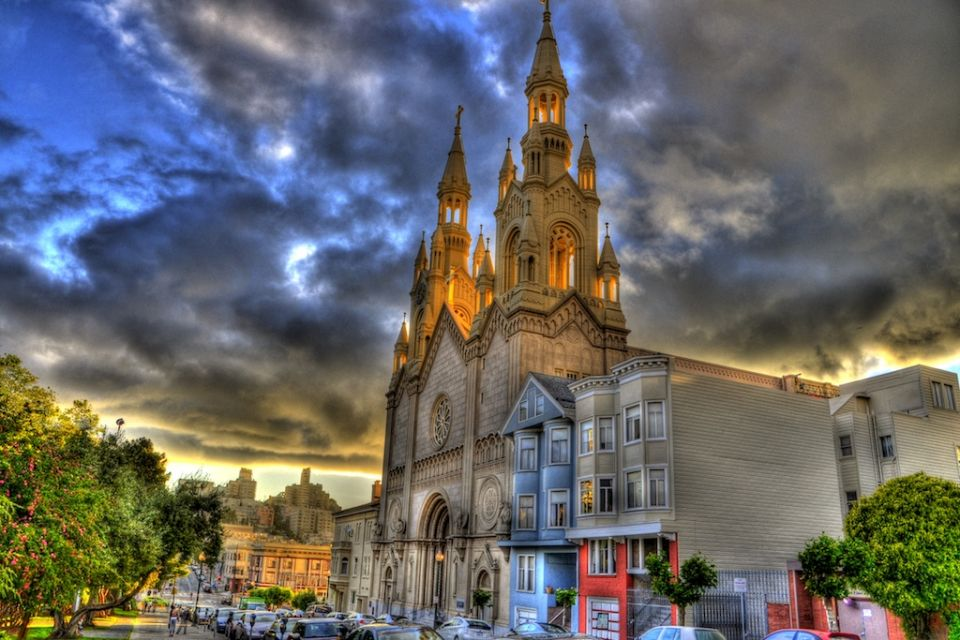 Saint Peter And Paul Church San Francisco HDR Composite 4x6.jpg