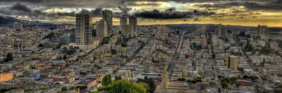 Coit Tower Views San Francisco HDR Composite 4x12.jpg